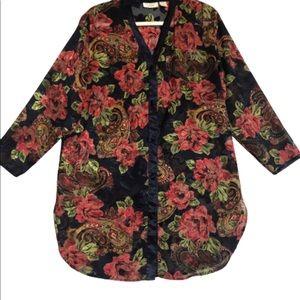 Victoria's Secret Vintage Nightshirt Navy Floral